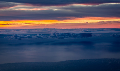 ocean clouds sunrise dawn see day cloudy canarias amanecer nubes tenerife