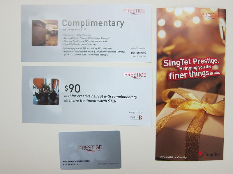 SingTel Prestige - Contents