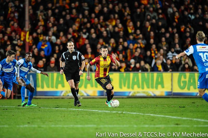 Trajkovski (on the ball) in action for Mechelen; photo: mechelen.be