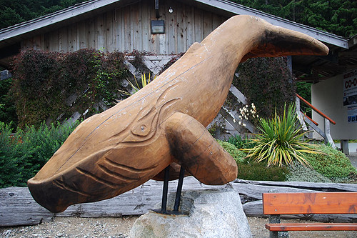 Whale Sculpture at the Pacific Rim Visitor Centre, Highway 4, Vancouver Island, British Columbia