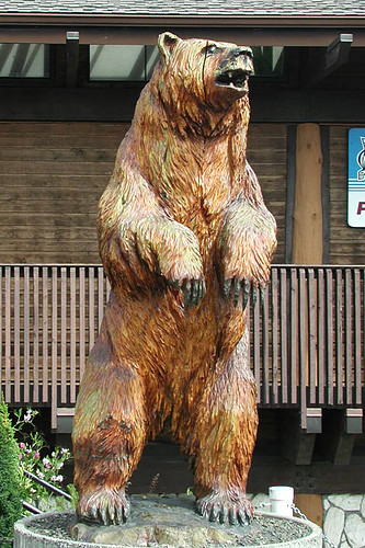 Grizzly Bear Sculpture at Port Hardy Museum, Port Hardy, Vancouver Island, British Columbia