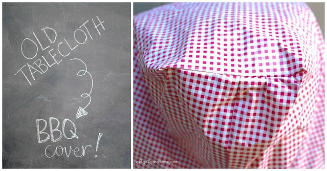 old tablecloth :: new BBQ cover