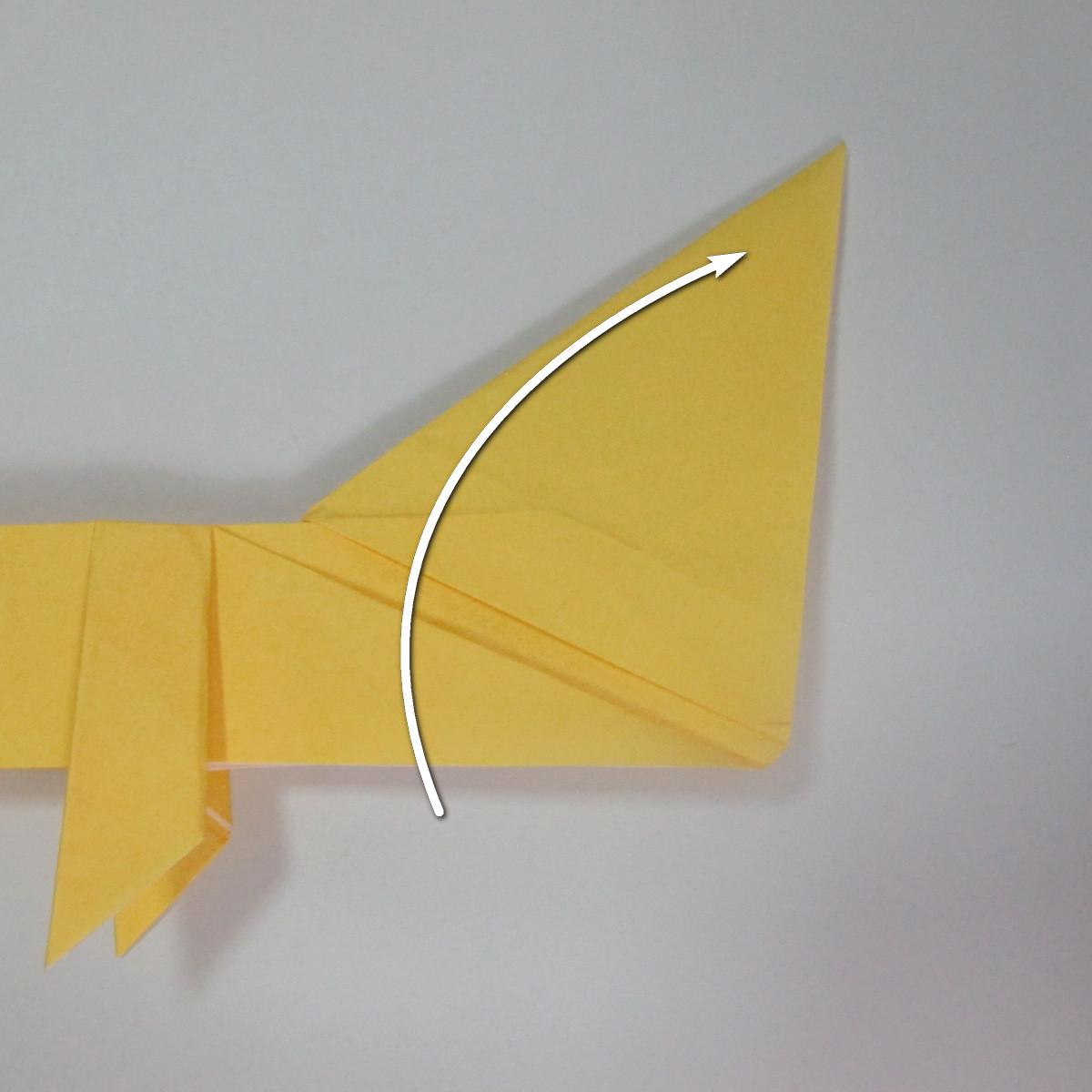 สอนวิธีพับกระดาษเป็นรูปลูกสุนัขยืนสองขา แบบของพอล ฟราสโก้ (Down Boy Dog Origami) 071