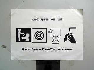 Seatup Bulleye Flush Wash Your Hands