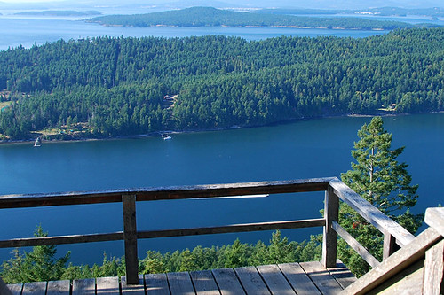 View of Bedwell Harbour from Mount Norman Park, South Pender Island, Gulf Islands National Park, British Columbia, Canada