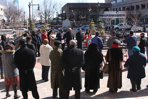 Photo of Peter Spencer Plaza Rededication