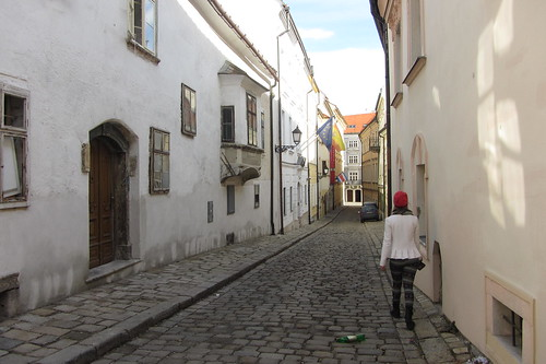 Narrow cobblestone street