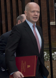 William Hague arrives at Downing Street to Chair COBRA meeting on Algerian hostage situation