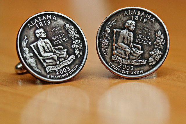 State Quarter Cuff Links