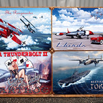Military Metal Art Signs, 2012 Wings and Wheels Expo, Teterboro Airport, New Jersey
