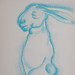 """Hare Man!?"". Pastel sobre papel/Pastel on paper, 2002."