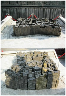 A model of what the Kowloon Walled City looked like.