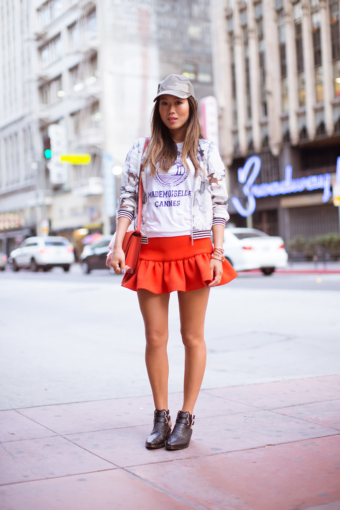 song_of_style_red_skirt_camo_cap_2