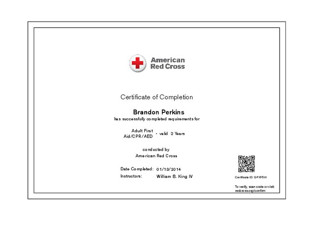 certificate cpr aid completion aed adult flickr