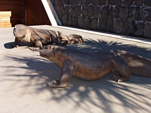 Lizard sculptures, Pyramids de Guimar Ethnological Park, Tenerife