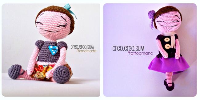 collaborazione a little market, creazioni amigurumi, pupazzi di lana, handmade, creo ergo sum t