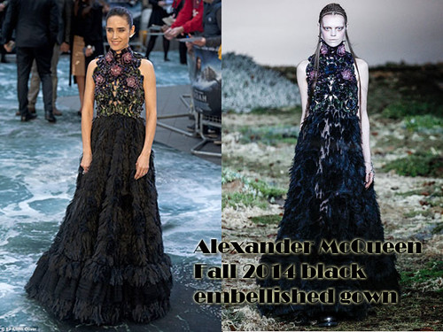 Alexander McQueen Fall 2014 black embellished gown