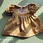 Easter dress for 14-16 inch slender doll