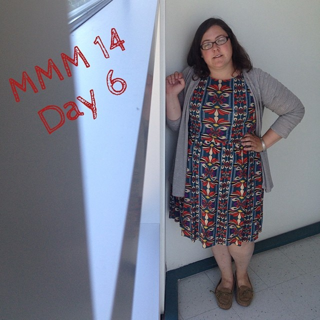 #mmmay14 #memademay day 6! Wearing my new #colettepatterns #moneta ! So excited, love this dress! Excuse the awkward angle selfie.