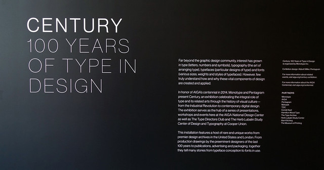 Preview of AIGA #Century 100 Years of Type & Design