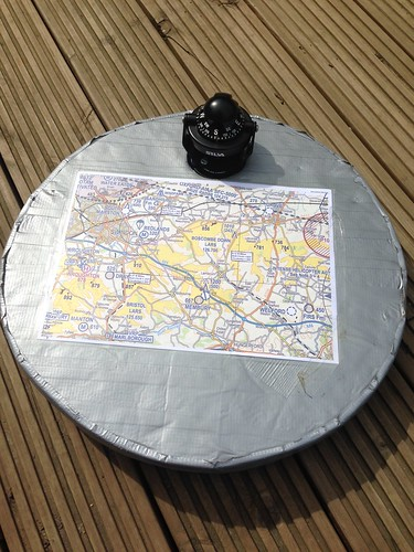 Paramotor Navigation Map and Compass