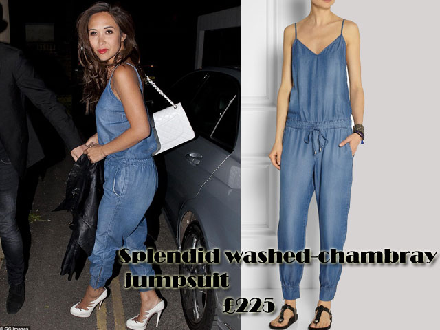 Splendid-washed-chambray-jumpsuit, Washed-chambray jumpsuit, Denim jumpsuit, Denim dungarees, jumpsuit, dungarees, denim jumpsuits, cami jumpsuit , denim cami jumpsuit , Splendid washed-chambray jumpsuit