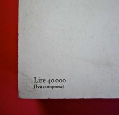 Soglie, di Gérard Genette. Einaudi 1989. Responsabilità grafica non indicata [Munari]. Quarta di copertina (part.), 1