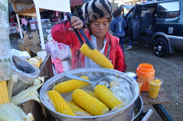 Corn Vendor in La Trinidad