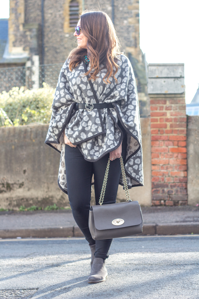 Ellie Maydoll Leopard Cape side