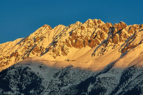mountain alps berg tirol österreich alpen montaña sonnenaufgang innsbruck fujitsu nordkette aut hafelekar seegrube