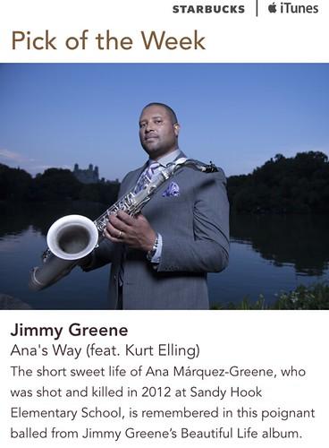 Starbucks iTunes Pick of the Week - Jimmy Greene - Ana's Way (feat. Kurt Elling)
