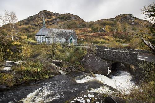 bridge church river rocks stream kerry ring killarney mountian