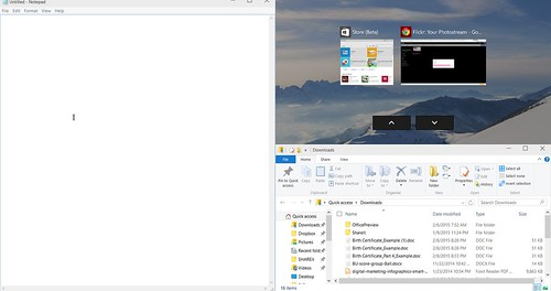 Windows 10 Multitasking - Choosing Apps