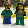 Finally had to make way for the kids at the build your own mini-fig table, but not before crafting Lego Mike and Karli.