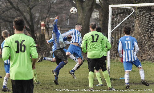 Cliffe FC 2ndXI 2 - 3 Selby Olympia Reserves 14Feb15