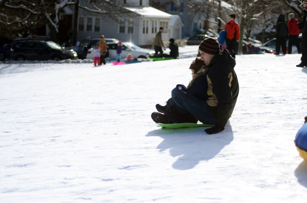 Sledding at Robbins Farm Park