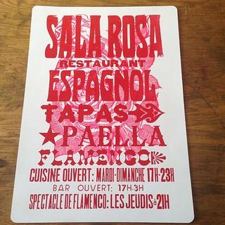 #salarosaresto #letterpress #signage con la rosa #linocut