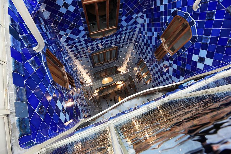 Blue well of light
