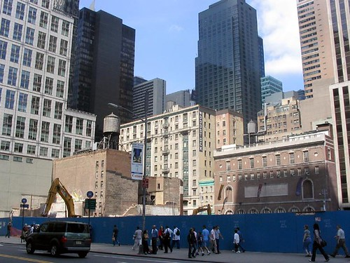 1994 Demolition of Hotel Diplomat (108 - 116 West 43rd Street), NYC, NY (Photographer Unknown)