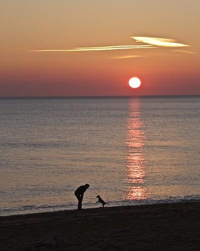 sunset sea sand bridport burtonbradstock jurassiccoast canon7d tamron18270