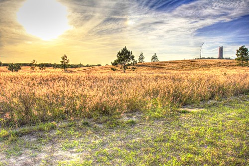 sun tower field hdr