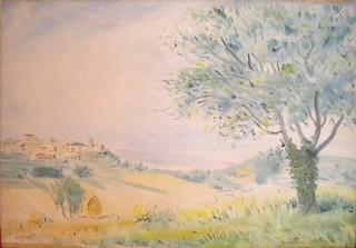 quercia antica a chianciano cm 55x38 1947