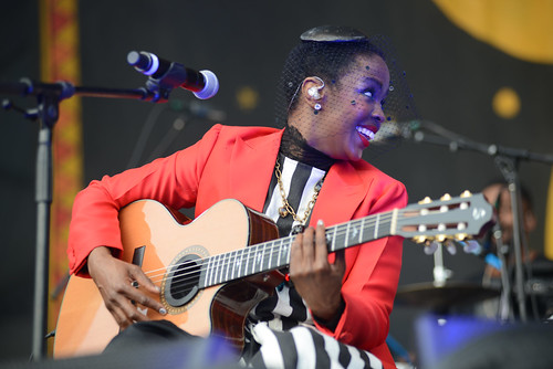 Ms Lauryn Hill at Jazz Fest 2016.  Photo by Leon Morris.
