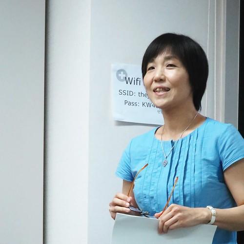 今日の講師は、岩崎葉子さん。アジ研で、イランの研究をされていて、本も出されています。 #りんごをかじろう