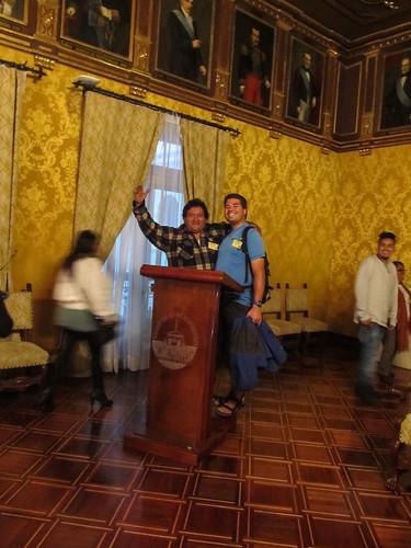 Quito: Mister J et un équatorien