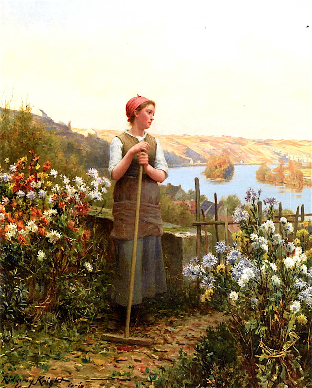 Autumn Evening by Daniel Ridgway Knight