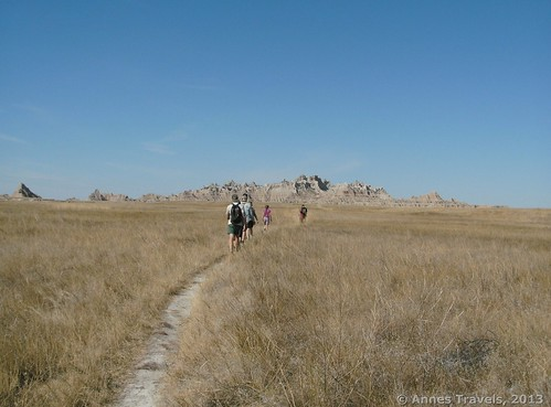 Hiking the Castle Trail, Badlands National Park, South Dakota