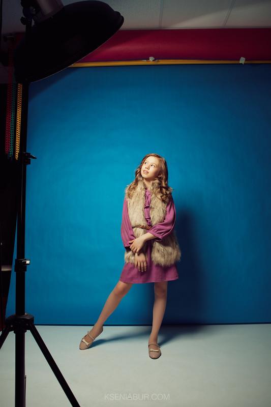 Детская фотосессия в студии, фотосессия девочки