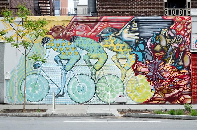 Bike mural by Cam Novak + Roadsworth  3
