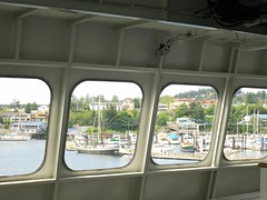 Friday Harbor through the ferry windows